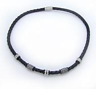 Bereich Mode Leder gotischen Stil Serie Edelstahl Halsketten