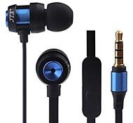 JTX-jl580 3.5mm antibruit mike écouteurs intra-auriculaires pour iPhone et autres téléphones (couleurs assorties)
