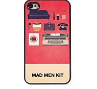 caso duro del modello in alluminio kit pazzo per iPhone 4 / 4S