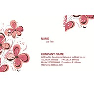 Personalized Business Cards 200 PCS Classic Flower Pattern 2 Sided Printing of Fine Art Filmed Paper
