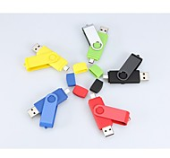 16gb rotativa usb / micro usb pen drive flash de OTG