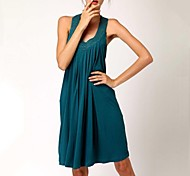 Women's Fashion Solid Rhinestone Cotton Swimwear Swimsuit Bikini Beach Cover Up Holiday dress