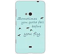Simple Letters and Swallow Design Hard Case for Nokia N625