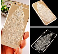 White Tree Pattern Transparent Back Case for iPhone 6 Plus