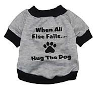 """cool """"Alphabet Fußabdrücke"""" Muster terylene T-Shirt für Hunde (verschiedene Größen)"""