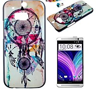 Wind Chimes Pattern PC Back Cover Case With Dustproof Plug for HTC One(M8)