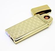 personalizado quadrados dourados usb isqueiro eletrônico