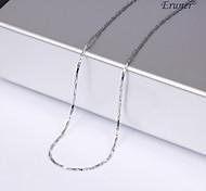 eruner®unisex plata 1mm collar de cadena no.9