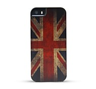 GMZS Wooden Case UK Flag Bamboo Wooden Back Cover for iPhone 5