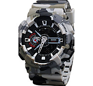 Men Military Sport  Quartz Round Case  Leather Strap  Watches