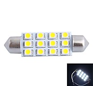 GC® 42mm 3W 12x3528 SMD 150LM 6000K White LED for Car Reading / License Plate / Door Lamp (DC 12V)