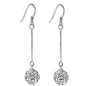 Earring Drop Earrings Jewelry Women Sterling Silver 2pcs Silver