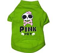 schöne Schädel-Muster Baumwolle T-Shirt für Hunde (verschiedene Größen)