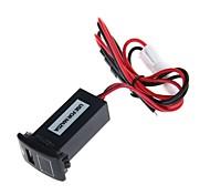 usb 2.1a socket coche 12v puerto con pantalla de voltaje para Mazda (negro)