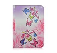 couleur schéma de rotation papillon cuir PU cas de tout le corps avec fente pour carte pour Samsung Galaxy Tab 10.1 de 4 T530