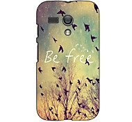 Be Free Pattern Hard Case for Motorola MOTO G