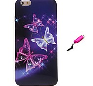 Flash Butterfly TPU Protective Shells and Capacitance Pen for iPhone 6/6S (Assorted Colors)