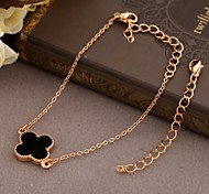 Korea Style Flower Alloy Charm Bracelet(1pc)