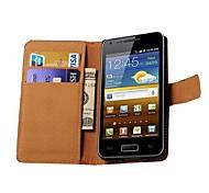 echt lederen portemonnee stijl case voor de Samsung Galaxy S Advance i9070 (verschillende kleuren)