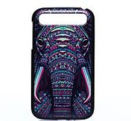 caso duro elefante patrón pc para q20 blackberry