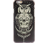 OWL And Skull Design Hard Case for iPhone 6