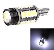 T15 921 194 168 W16W 15SMD 5050 + High Power LED Backup Light Reverse Bulb Lamp White