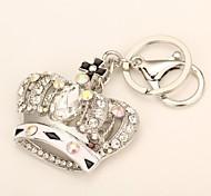 moda metal de alta qualidade saco criativo coroa de diamantes chaveiro