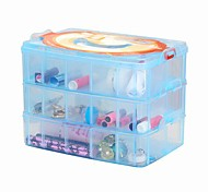 Three Layers of 30 Plastic Jewelry Box / Store Content Box