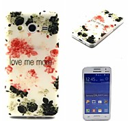 Love Me More Ink Painting Rose Pattern 0.6mm Ultra-Thin Case for Samsuang Galaxy Core 2 G355H