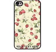 personalizzato phone case - strawberry caso di disegno del metallo per iPhone 4 / 4S