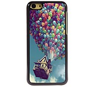 Balloon and House Design Aluminum Hard Case for iPhone 5C