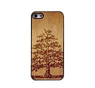 design en bois de l'étui rigide modèle d'arbre en aluminium pour iPhone 5 / 5s