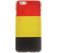 Belgian Flag Design Hard Case for iPhone 6