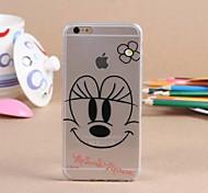 Creative Pattern Transparent TPU Pattern Soft Case for iPhone 6