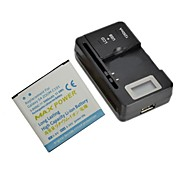 Replacement 3000mAh 3.7V Battery with LCD Battery Charger for Samsung Galaxy S4 ZOOM / C101 / C1010