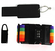 3-in-1 Set Outdoor Travel Password Lock Straps Set - rainbow color