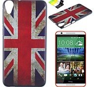British Flag Pattern PC Hard Case and Phone Holder for HTC Desire 820