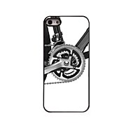 Für iPhone 5 Hülle Muster Hülle Rückseitenabdeckung Hülle Schwarz & Weiß Hart PC iPhone SE/5s/5
