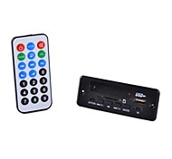 Bluetooth / WMA / WAV módulo bordo decodificador de áudio 3.0 stereo mp3 w / fm / controle remoto (preto)