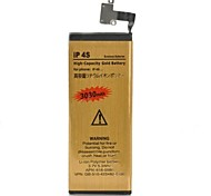 High Capacity 3.7V 3030mAh Dual-cell Li-ion Battery for Iphone 4S
