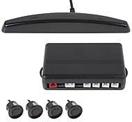 Professional 4 Sensors Car Parking Sensor Auto Reverse Backup Radar Detector System Kit (Buzzer)