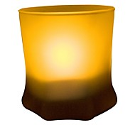 Hexagon Shape Frosted Glass Shake on Blow out LED Candle