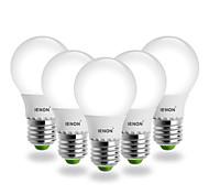 Lampadine globo SMD G60 E26/E27 5 W 400-450 LM Bianco caldo 5 pezzi AC 100-240 V