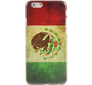 caso duro do design da bandeira mexicana para iphone 6