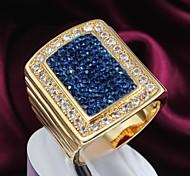 fashion gold Zircon 18k Gold überzogene Legierungsrechnung Ringe (1pc)
