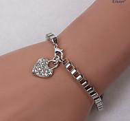 Eruner®LOVE Set Auger Square Chain Bracelet Silver