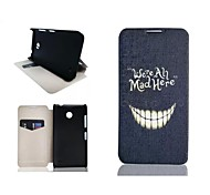 White Teeth Pattern PU Leather Full Body Case for Nokia Lumia N630