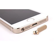 Metal  anti dust plug for iphon 5s 3.5mm jack and charge port
