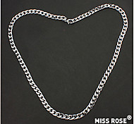 Miss ROSE®Unisex Silver Plated Alloy Chain Necklace No.25