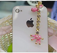 Rhinestone Pearl bags Anti-dust Earphone Jack for iPhone/iPad and Others(Asslrted Colors)